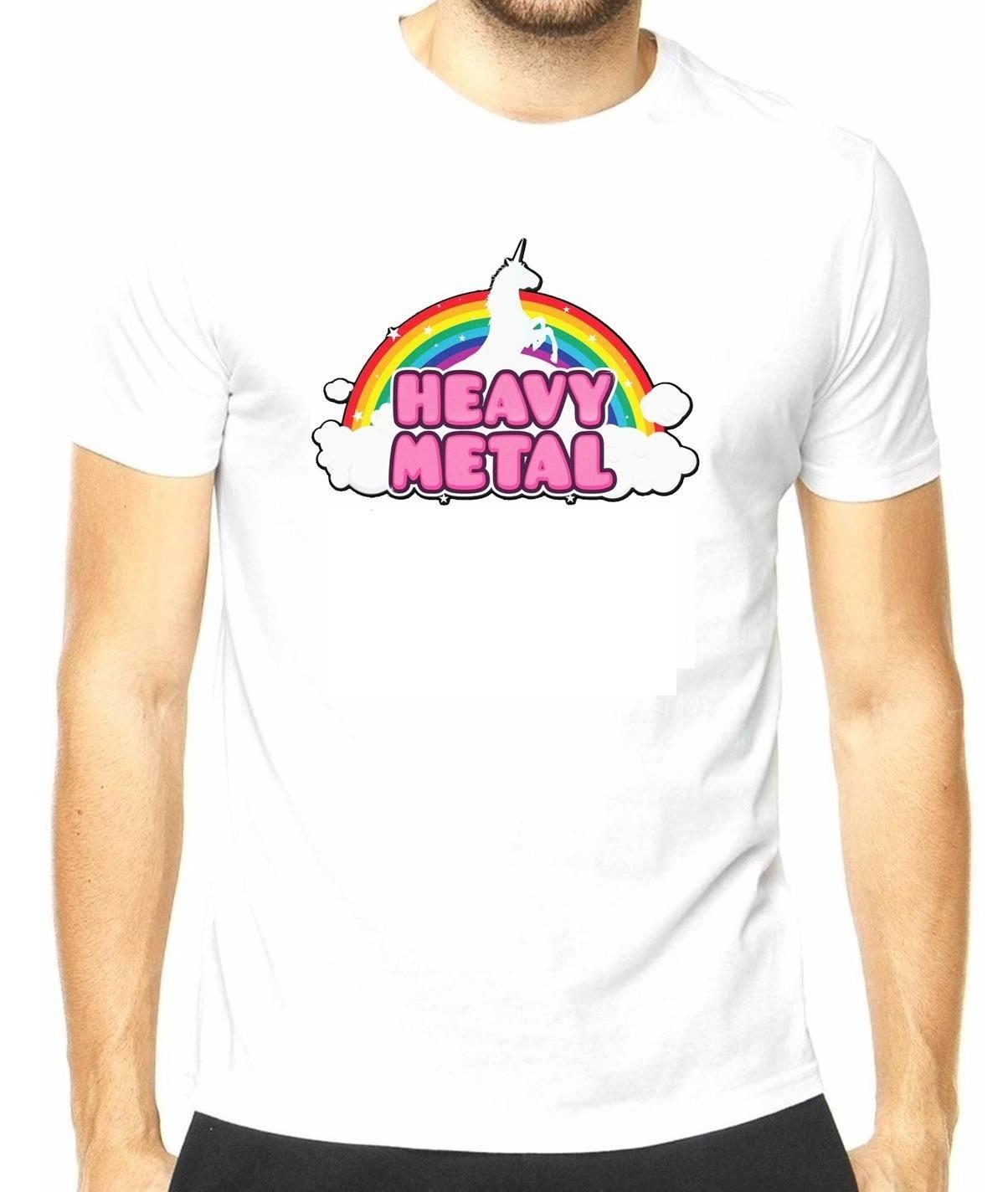 Camiseta masculina Unicórnio Heavy Metal
