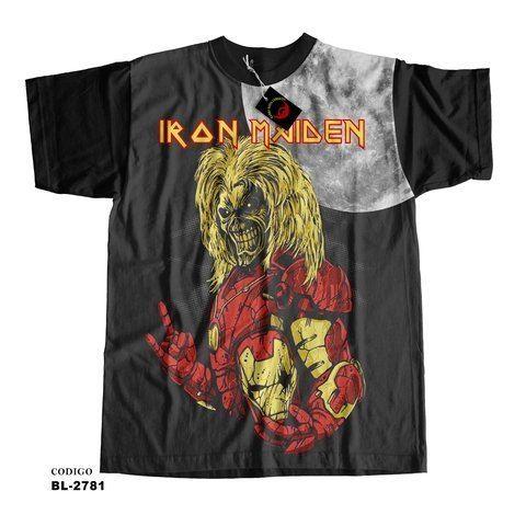 Camiseta unissex Iron Maiden de ferro