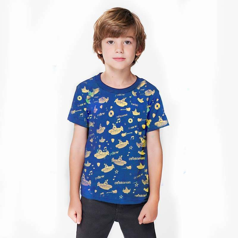Camiseta infantil Yellow Submarine