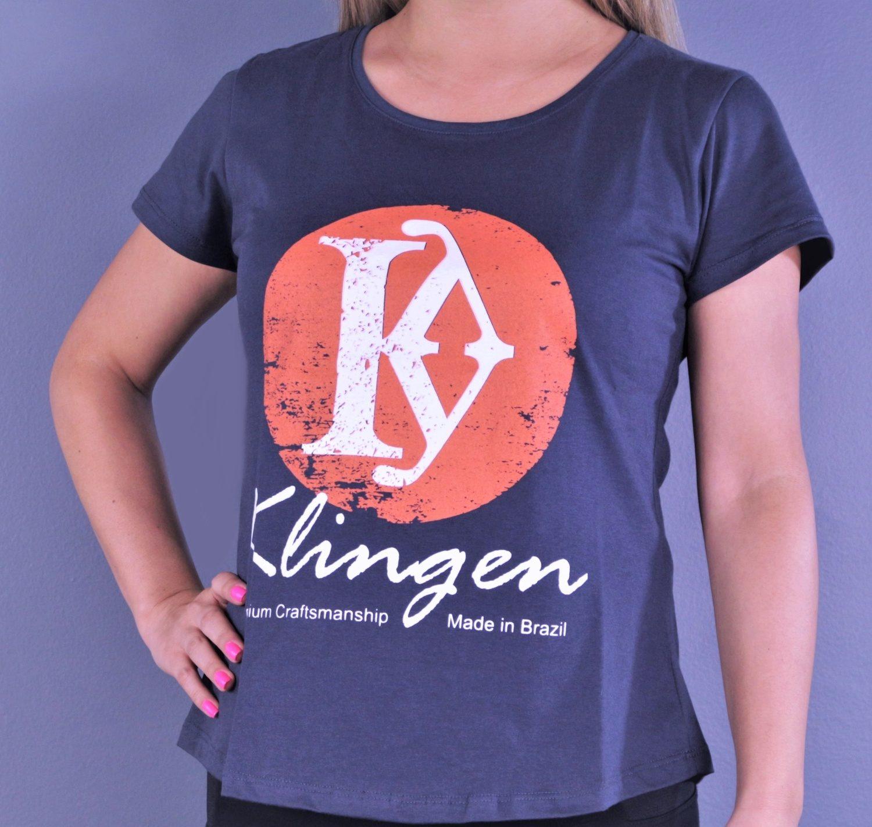 "Camiseta Feminina Klingen ""Sol Nascente Laranja"""