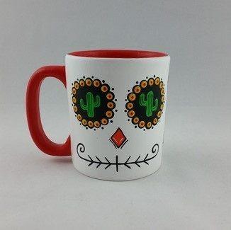 Caneca Caveira Mexicana Decorativa