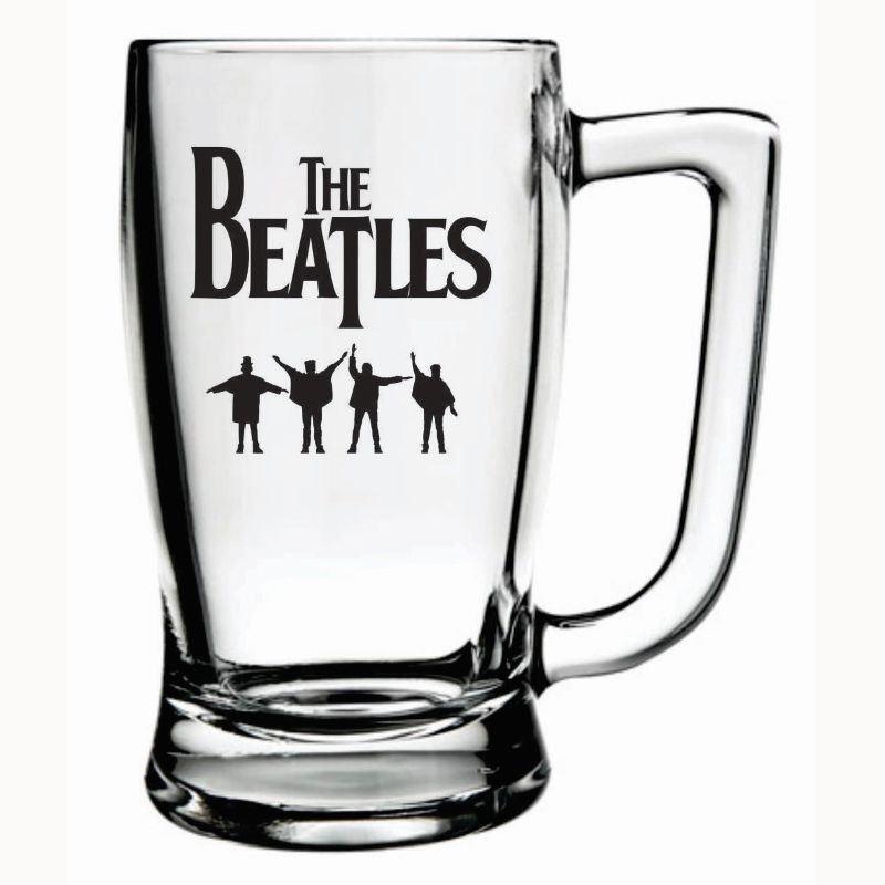 Caneca Cerveja The Beatles Taberna Chopp Beer Rock 340ml
