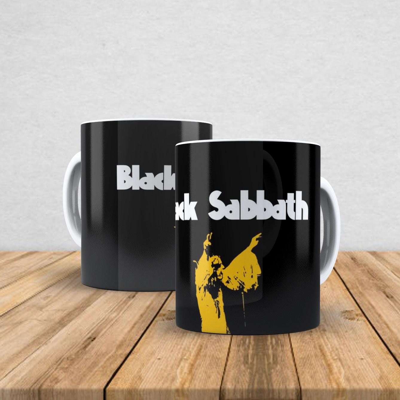 Caneca de porcelana Black Sabbath 350ml I