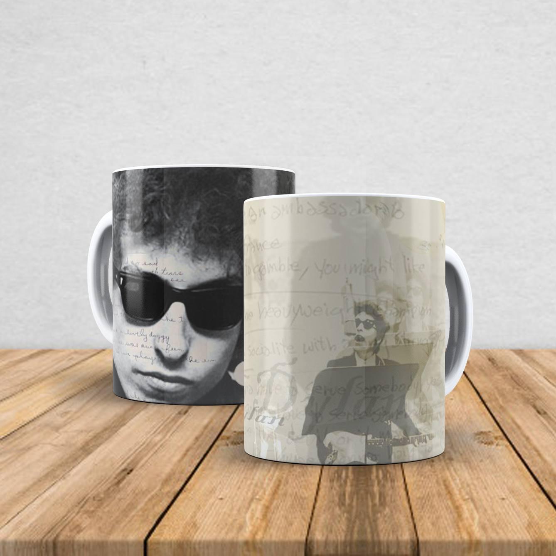 Caneca de porcelana Bob Dylan 350ml III