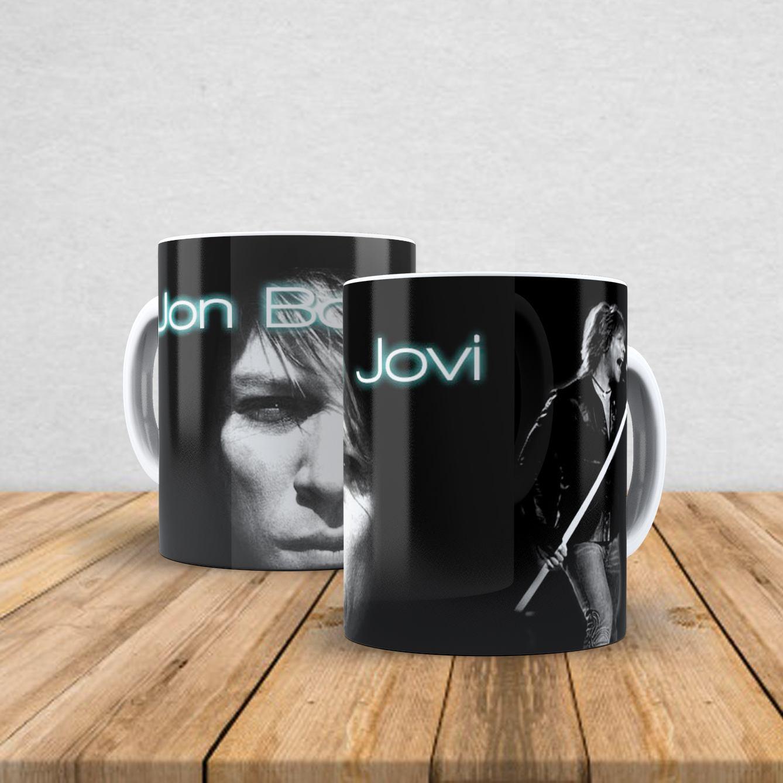 Caneca de porcelana Bon Jovi 350ml I