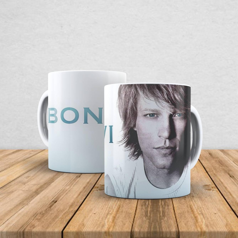 Caneca de porcelana Bon Jovi 350ml III