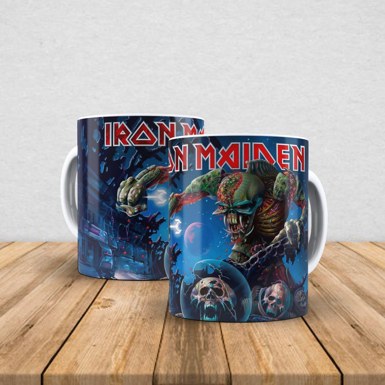 Caneca de porcelana Iron Maiden 350ml I