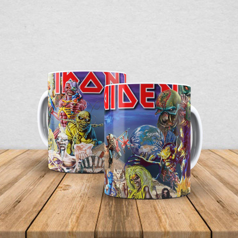 Caneca de porcelana Iron Maiden 350ml III