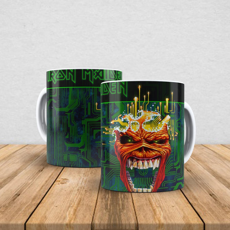 Caneca de porcelana Iron Maiden 350ml V