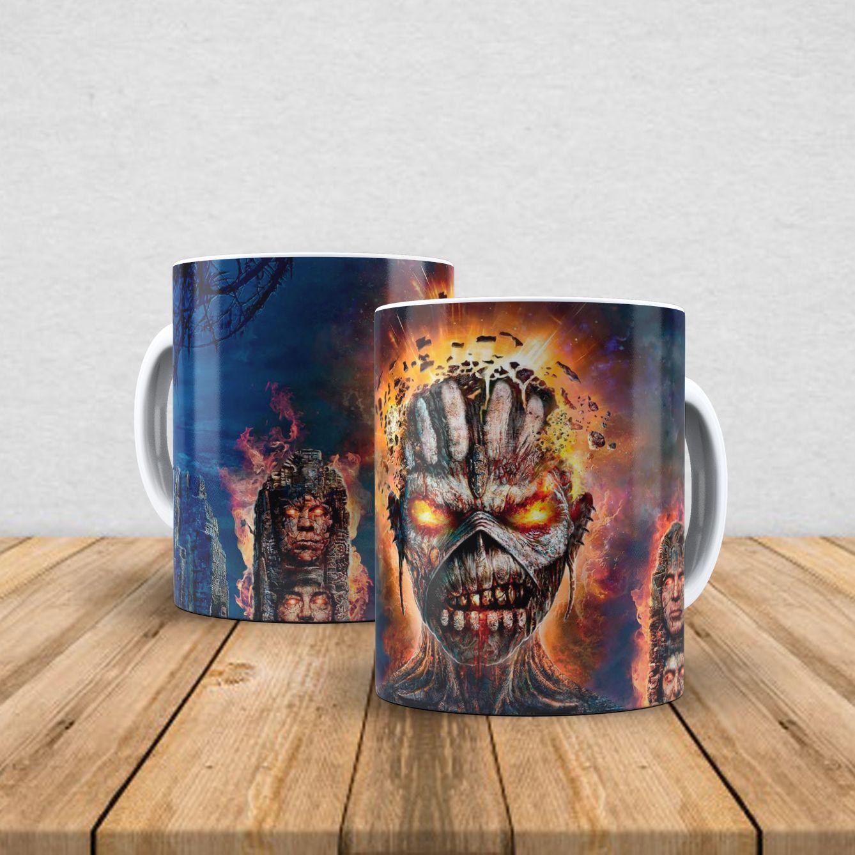 Caneca de porcelana Iron Maiden 350ml VIII