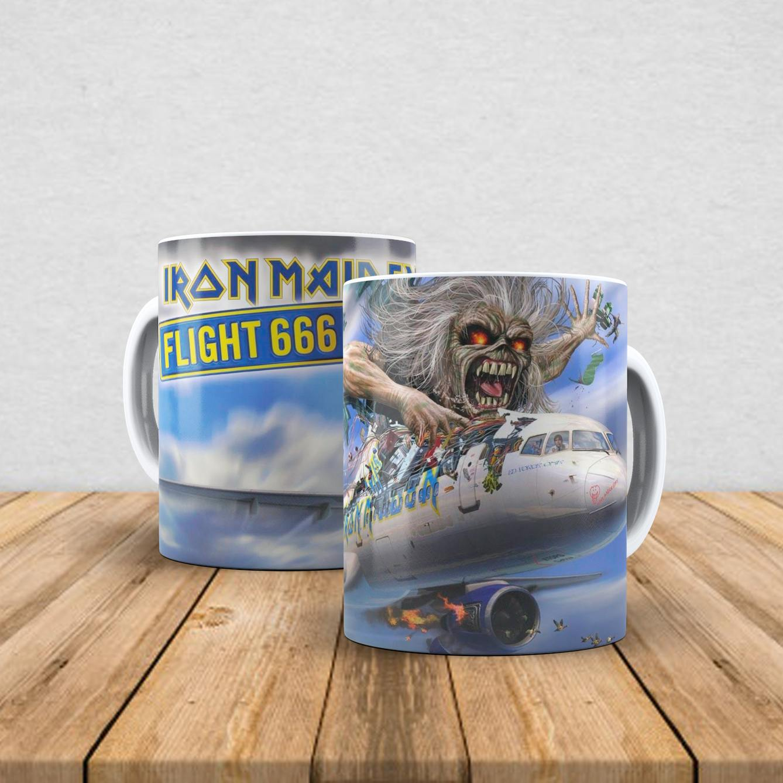 Caneca de porcelana Iron Maiden 350ml X