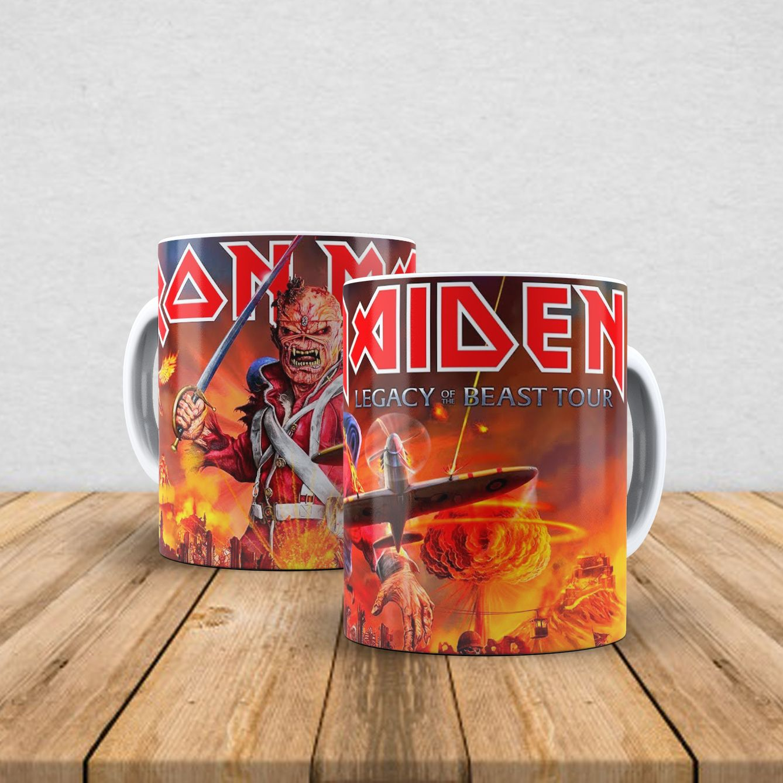 Caneca de porcelana Iron Maiden 350ml XII