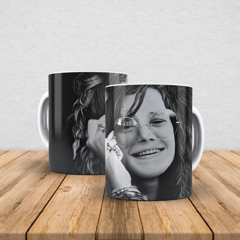Caneca de porcelana Janis Joplin 350ml I