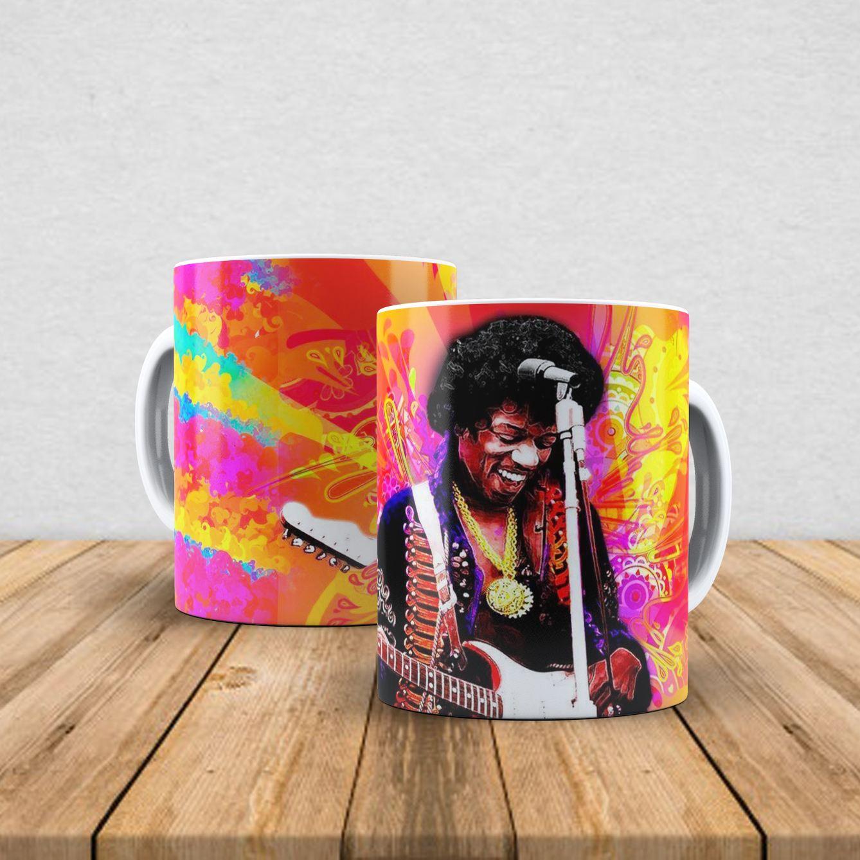 Caneca de porcelana Jimi Hendrix 350ml I