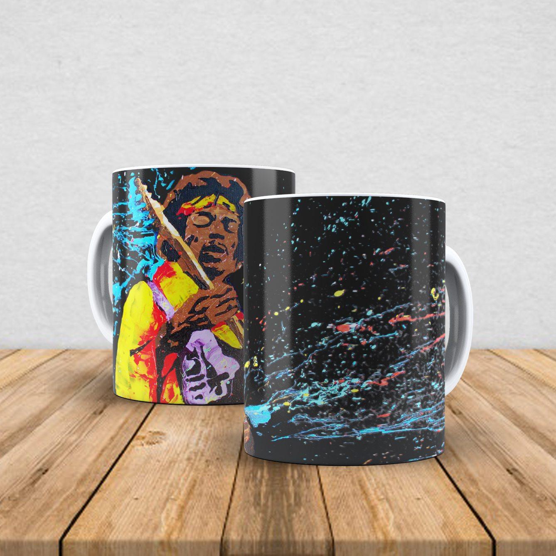 Caneca de porcelana Jimi Hendrix 350ml IV