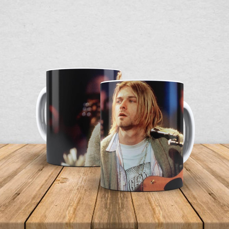 Caneca de porcelana Kurt Cobain 350ml III
