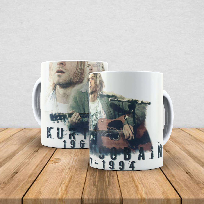 Caneca de porcelana Kurt Cobain 350ml IV