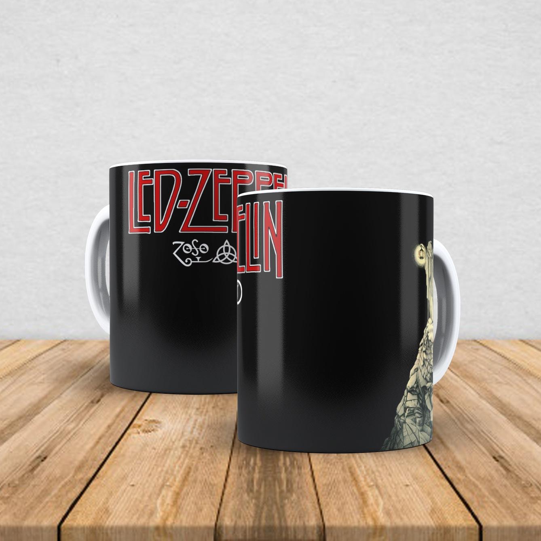 Caneca de porcelana Led Zeppelin 350ml V