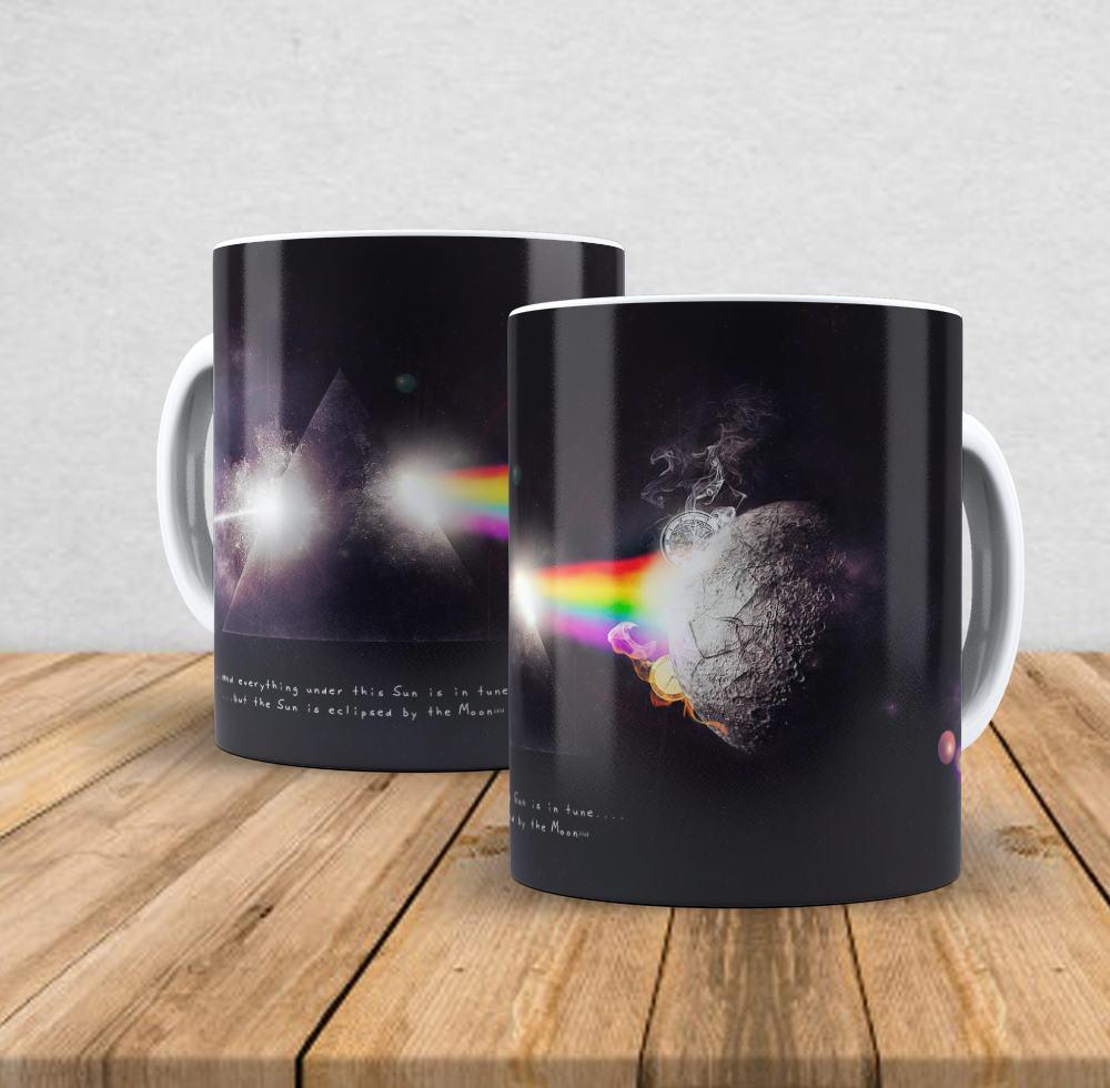 Caneca de porcelana Pink Floyd - 350ml
