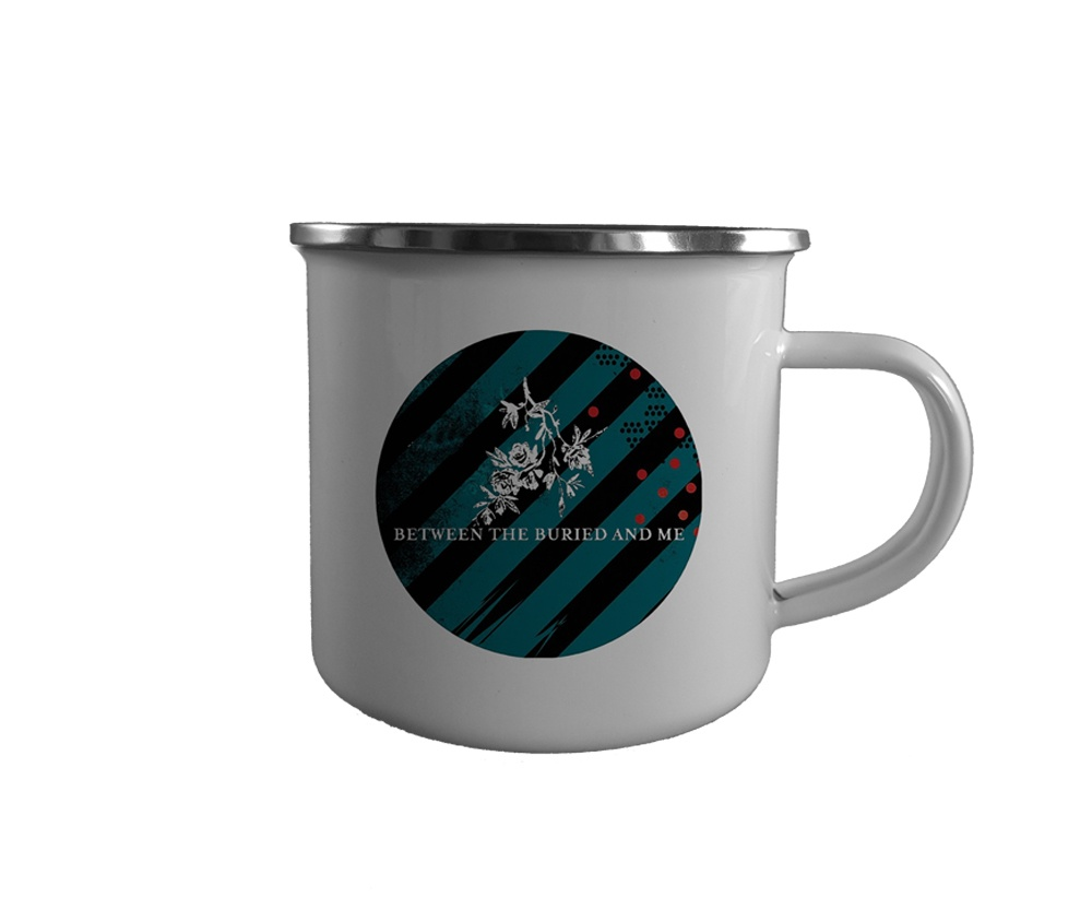 Caneca esmaltada branca com borda prata BETWEEN THE BURIED AND ME