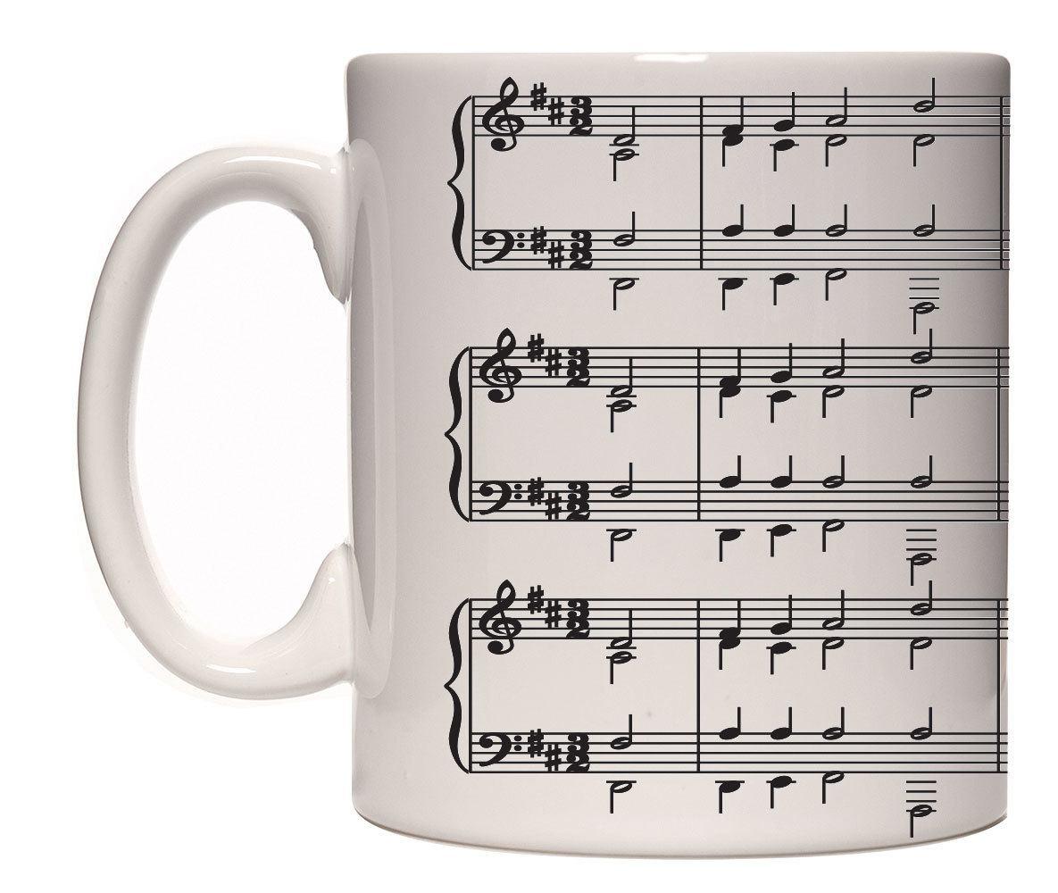 Caneca porcelana notas musicais (mod2)
