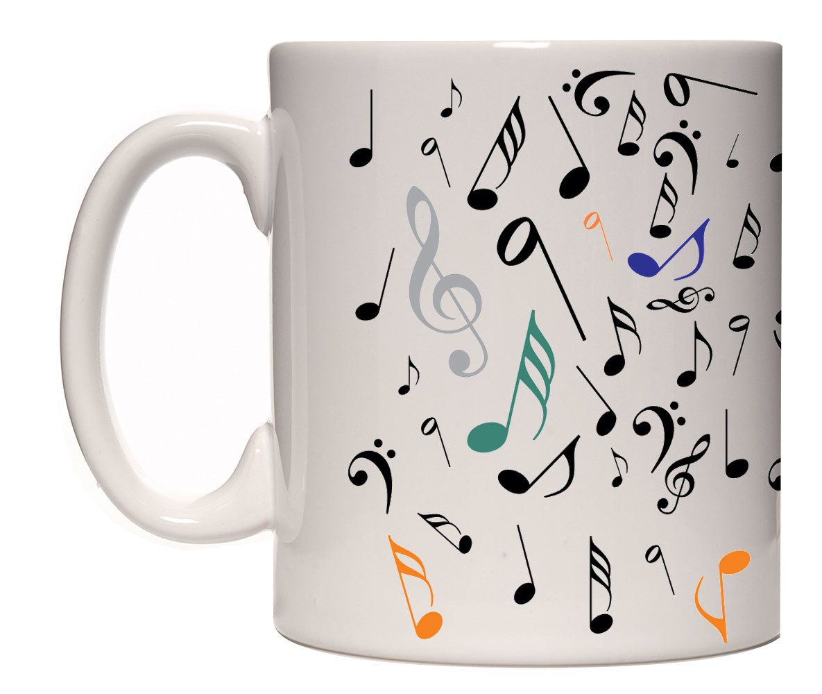 Caneca porcelana notas musicais