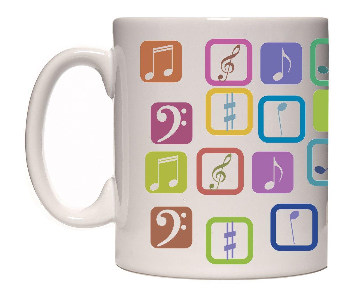 Caneca simbolos musicais