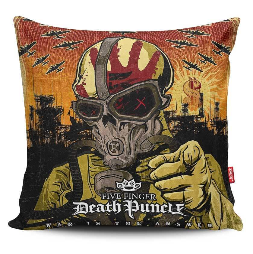 Capa de Almofada Five Finger Death Punch