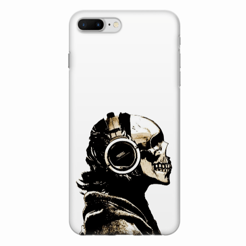 Capa de Celular Caveira Headphone