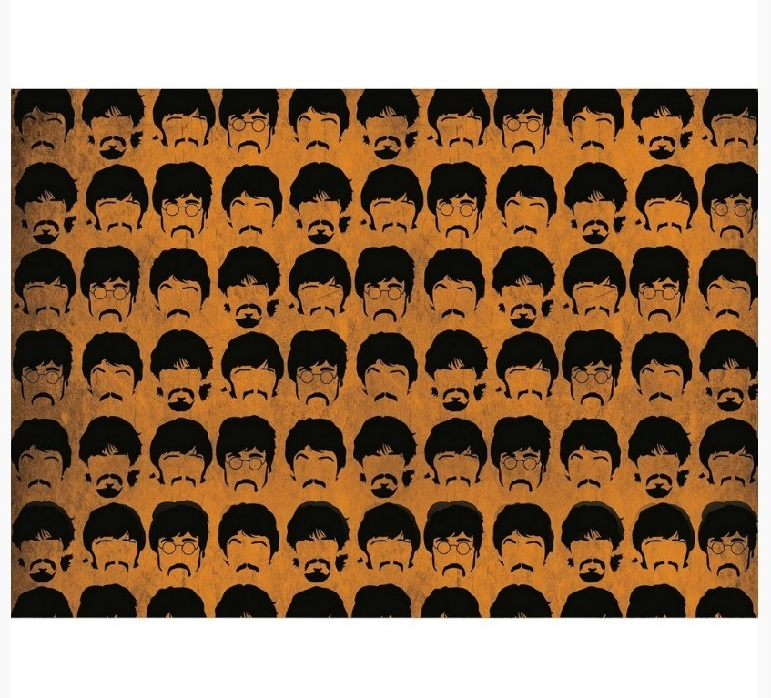 Capacho Beatles Orange  - Rvalentim