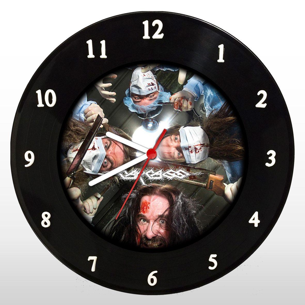 Carcass - Relógio de Parede em Disco de Vinil - Mr. Rock