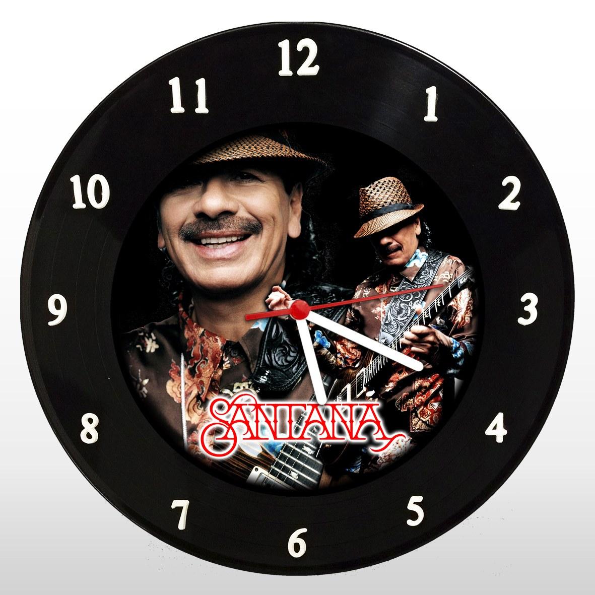 Carlos Santana - Relógio de Parede em Disco de Vinil - Mr. Rock