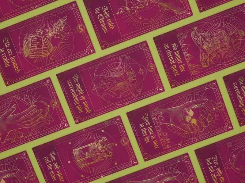 Cartas de Tarot Banda Eve Desire -  Álbum Prelude to Singularity