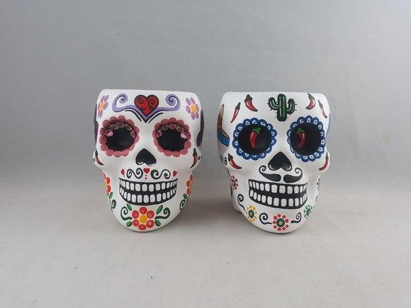 Vasos Casal de caveiras mexicanas