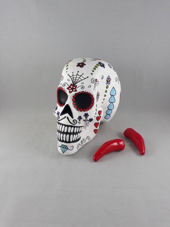 Caveira mexicana branca