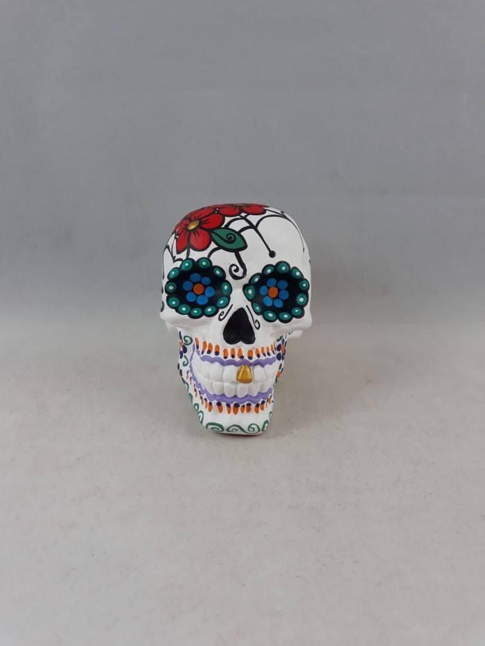 Caveira mexicana decorativa pequena