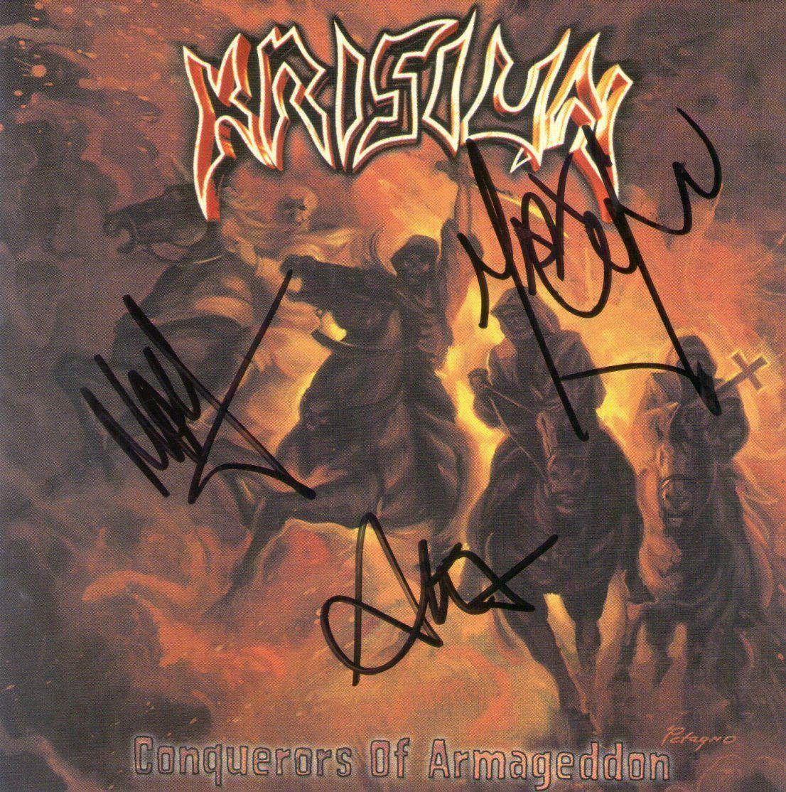 CD – Krisiun – Conquerors Of Armageddon Autografado