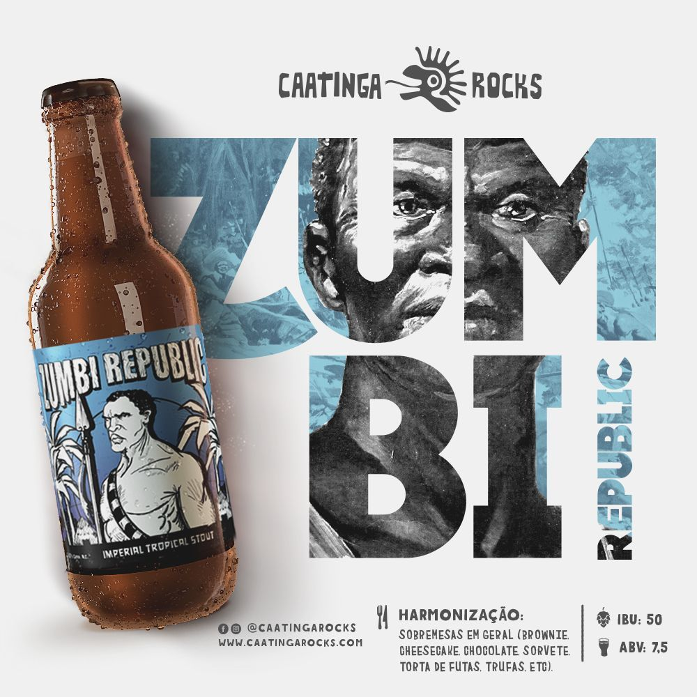 Cerveja Caatinga Rocks Zumbi Republic 500ml