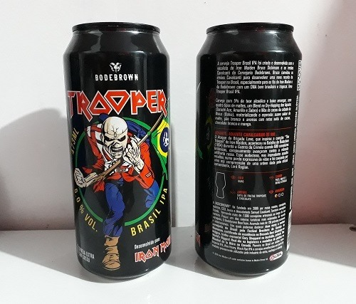 Cerveja Artesanal lata Iron Maiden The Trooper Ipa  473ml
