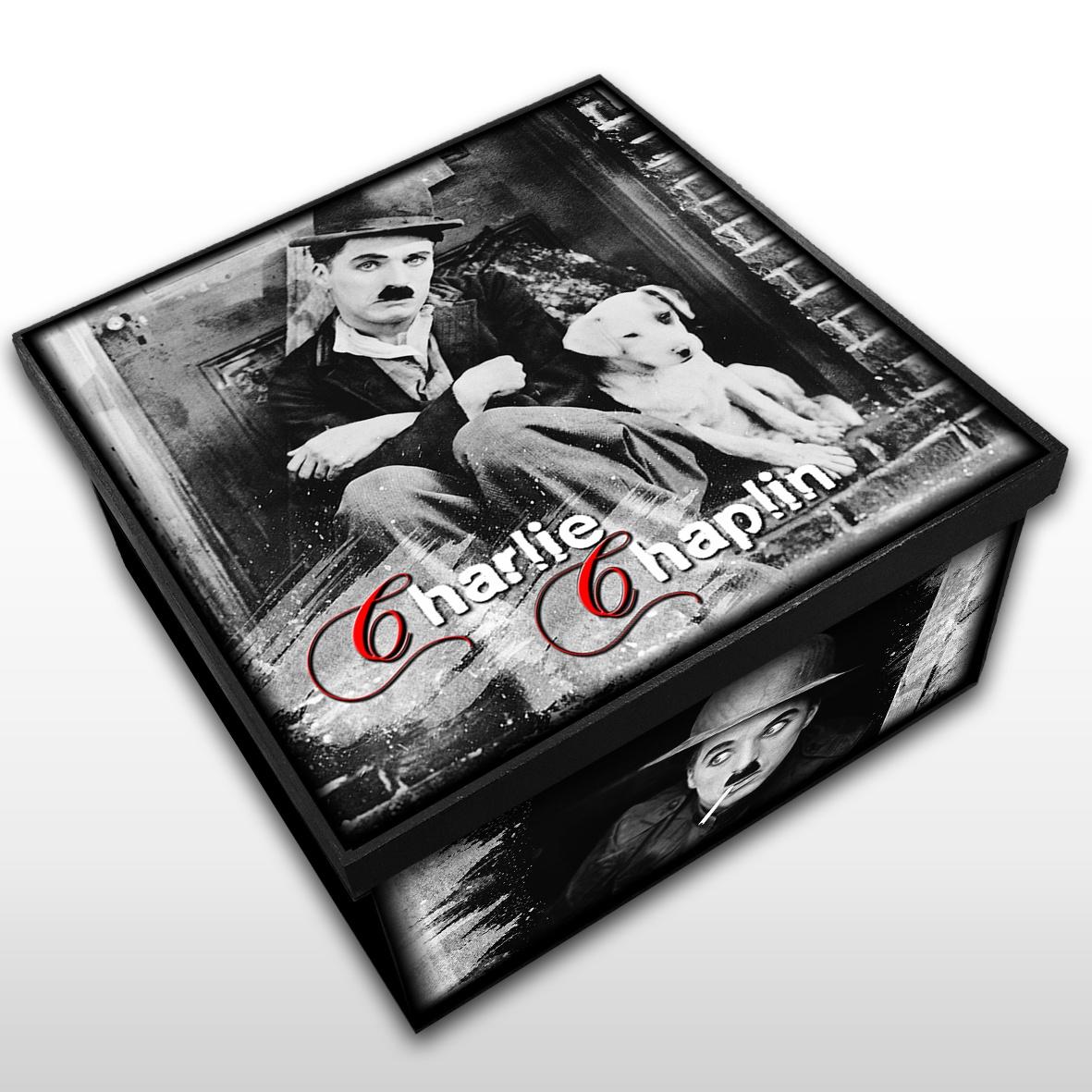 Charles Chaplin - Caixa em MDF - Tam. Médio - Mr. Rock