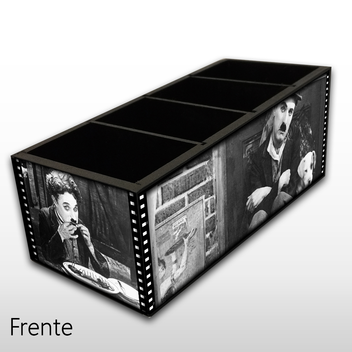 Charles Chaplin - Porta Controles MDF - 4 Espaços - Mr. Rock
