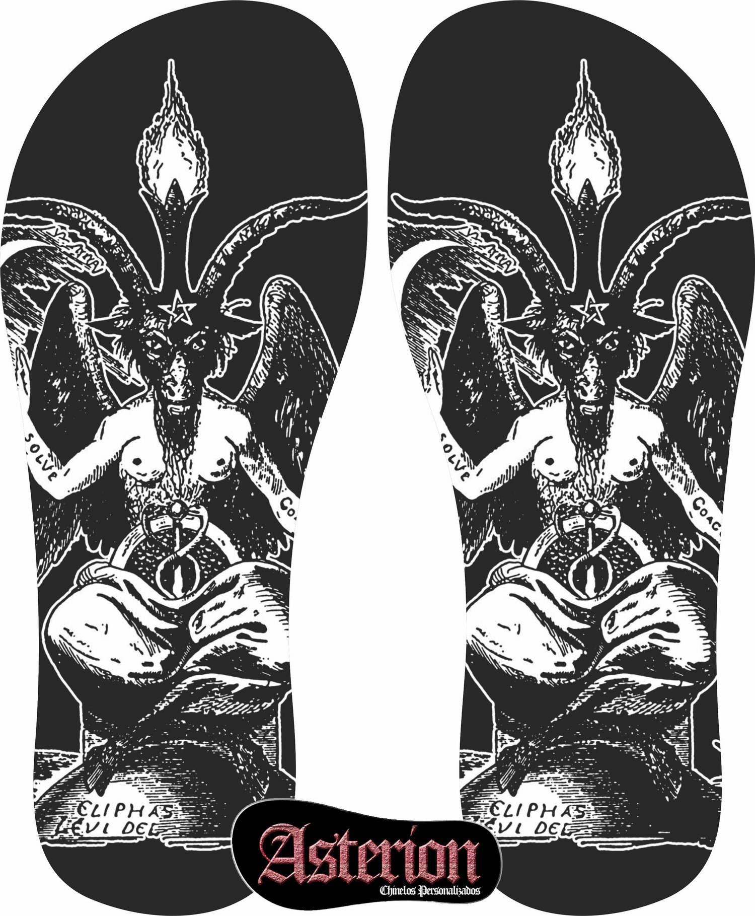 Chinelo Baphomet – Asterion Chinelos Personalizados