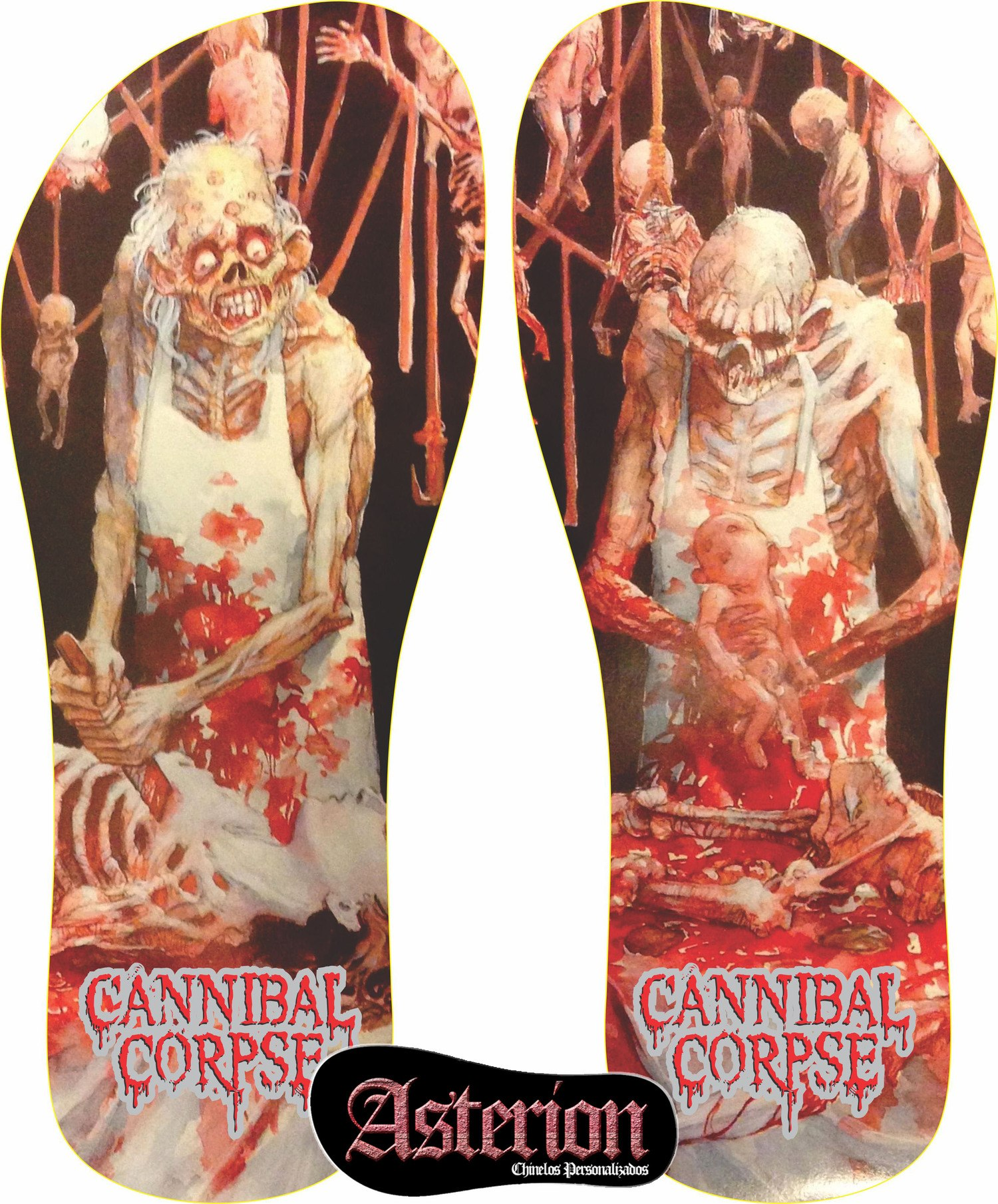 Chinelo Cannibal Corpse  – Asterion Chinelos Personalizados