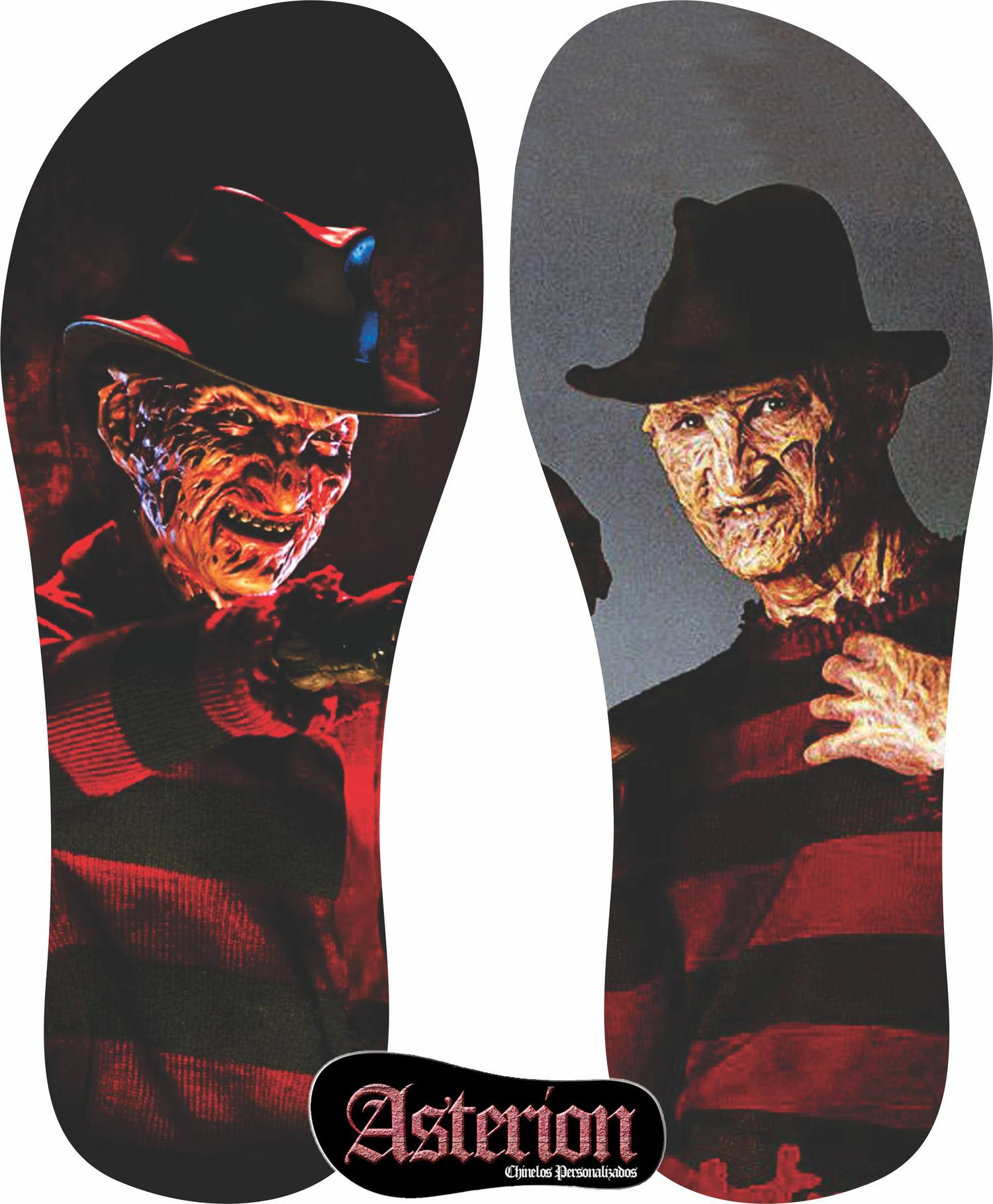 Chinelo Freddy Krueger – Asterion Chinelos Personalizados