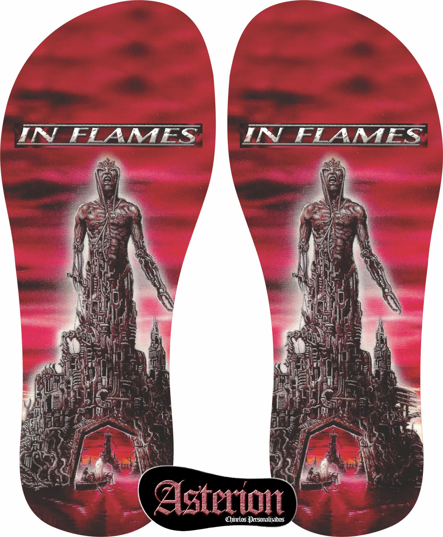 Chinelo In Flames – Asterion Chinelos Personalizados