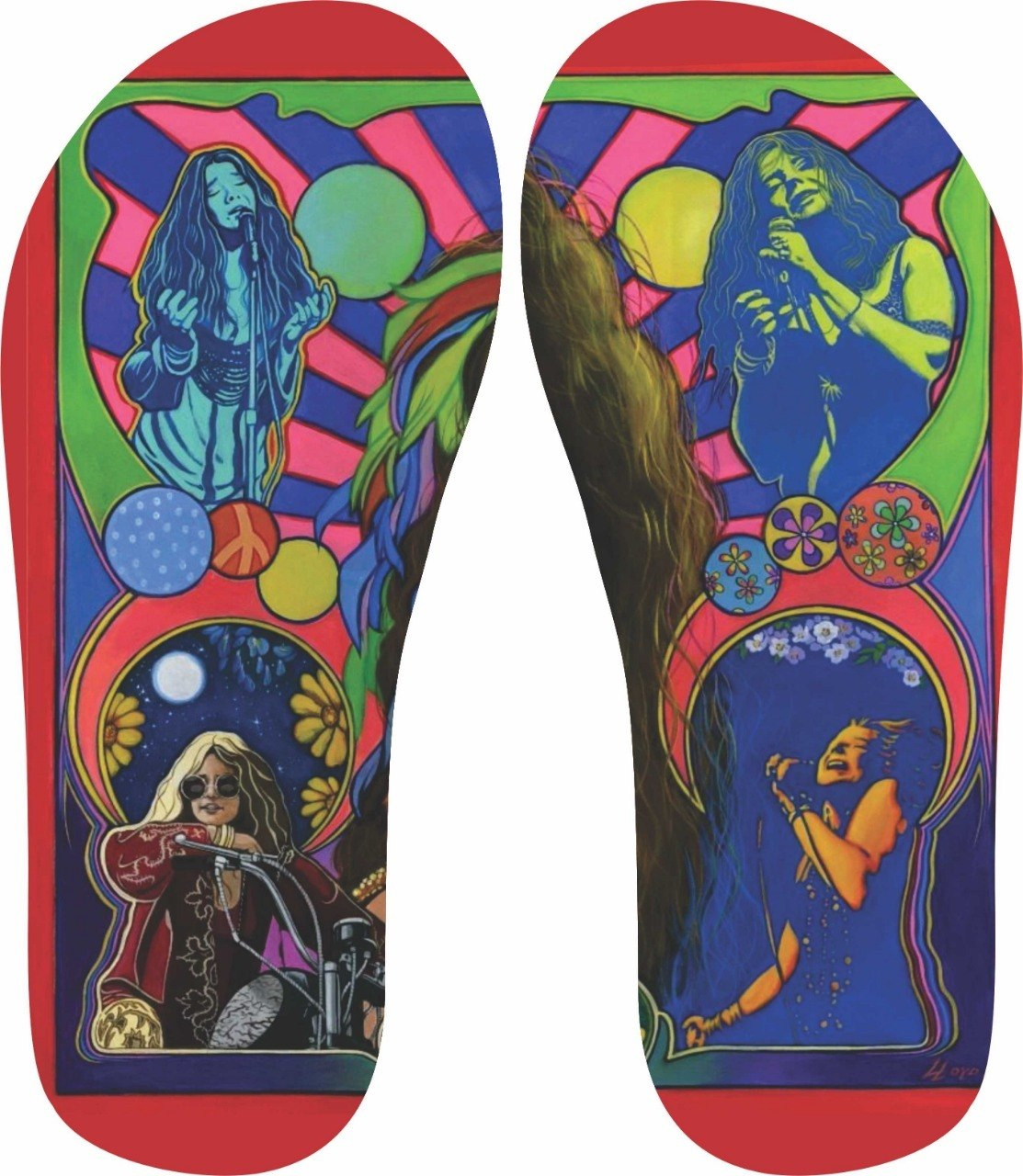 Chinelo Janis Joplin - Asterion Chinelos Personalizados