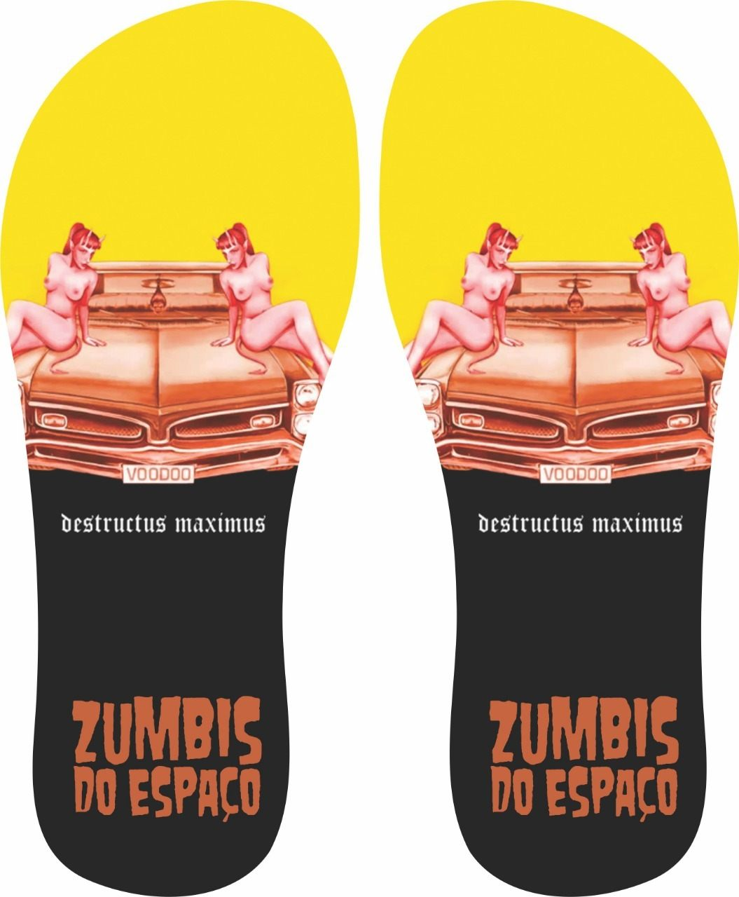 Chinelo Zumbi do Espaço Destructus Maximus - Asterion Chinelos Personalizados