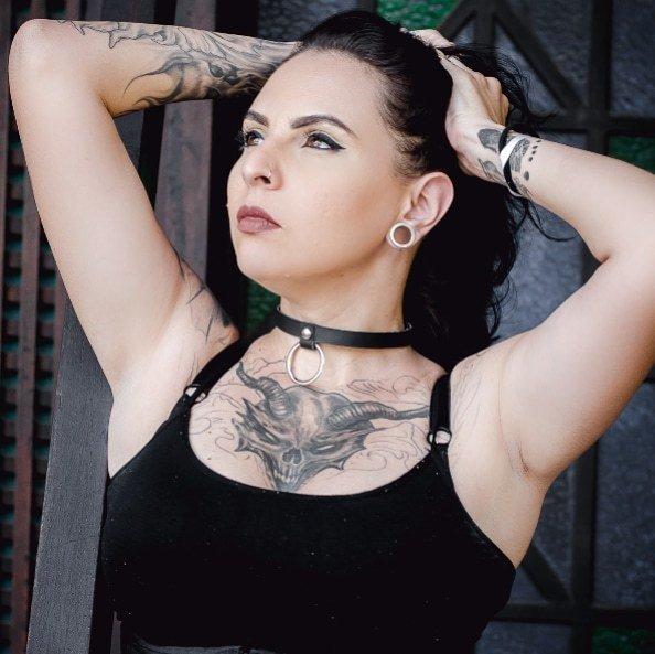 Choker Argola Black