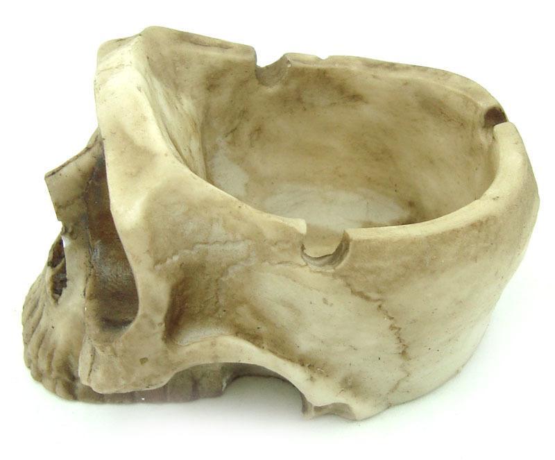 Cinzeiro Crânio Caveira Skull Decorativo Resina
