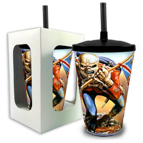 Copo com Canudo Iron Maiden The Trooper